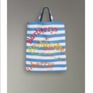 Burberry Cloth Archive Logo Striped Jersey Shopper